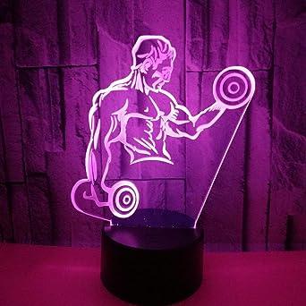 Hombres musculosos calientes 3d pequeña luz de la noche con ...
