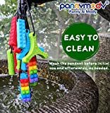Panny & Mody Sensory Chew Necklace Silicone Spinner Shaped Pendant Chewable Jewelry, Autism ADHD Teething Necklace for Kids, Boys or Girls Sensory Motor Aids