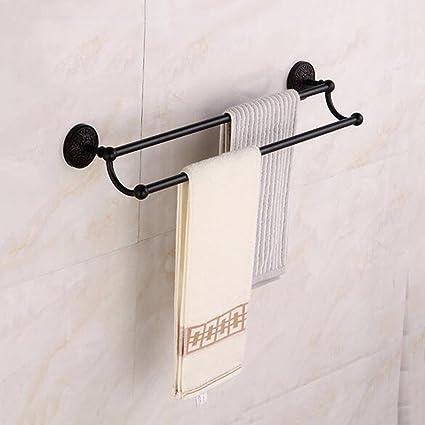 Amazon.com: Towel Racks Black Wall Mounted Towel Shelf Holder Rack ...