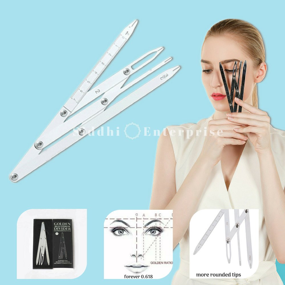 Golden Mean Eyebrow Divider - Microblading Supplies - Stainless Steel Golden Ratio Eyebrow Ruler - Permanent Makeup DIY