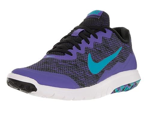 2c38fa393c4f Nike Women s Flex Experience Rn 4 Prem Black GMM Blue PRSN VLT White Running  Shoe 10 Women US  Amazon.in  Shoes   Handbags