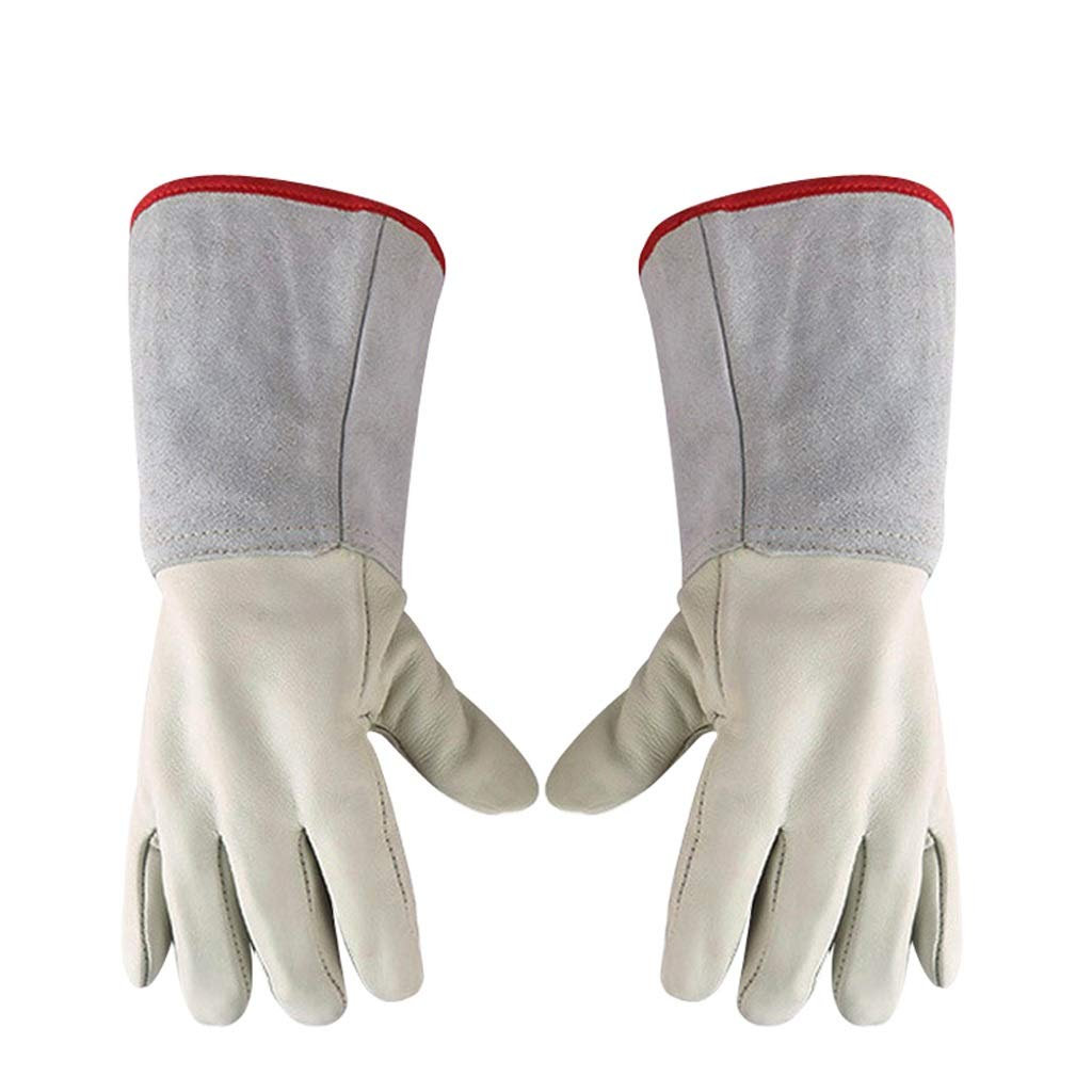 LZRZBH Waterproof Liquid Nitrogen Protective Cowhide Gloves Low Temperature Resistance Cryogenic Work Gloves (Size : L 45cm)