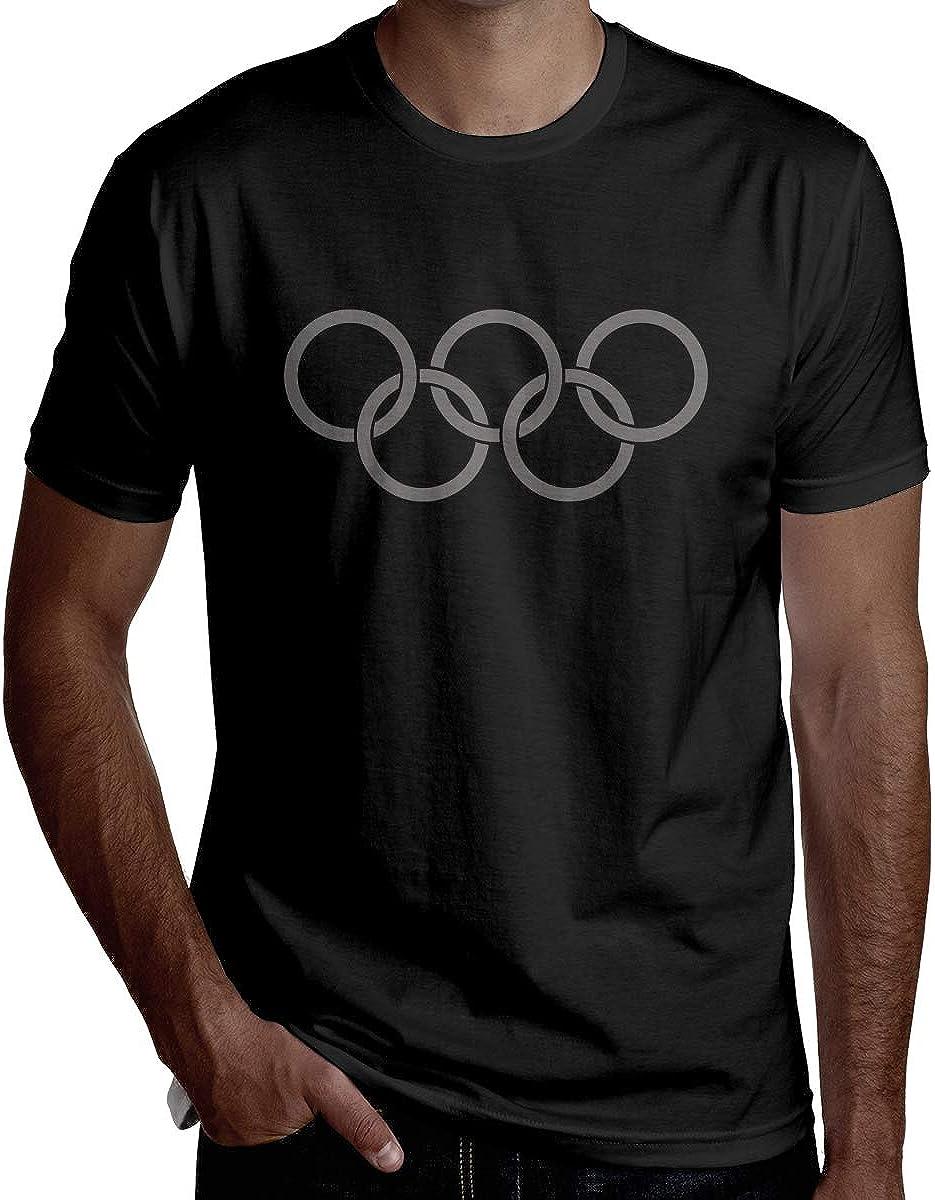 HRSHEN Geek Tokyo Olympic Games T Shirts for Boyfriend Short Sleeve Black