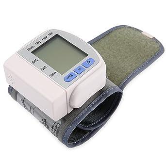 Ecloud Shop® Tensiometro Pulsómetro De Muñeca Presión Sanguínea Pulso Metro