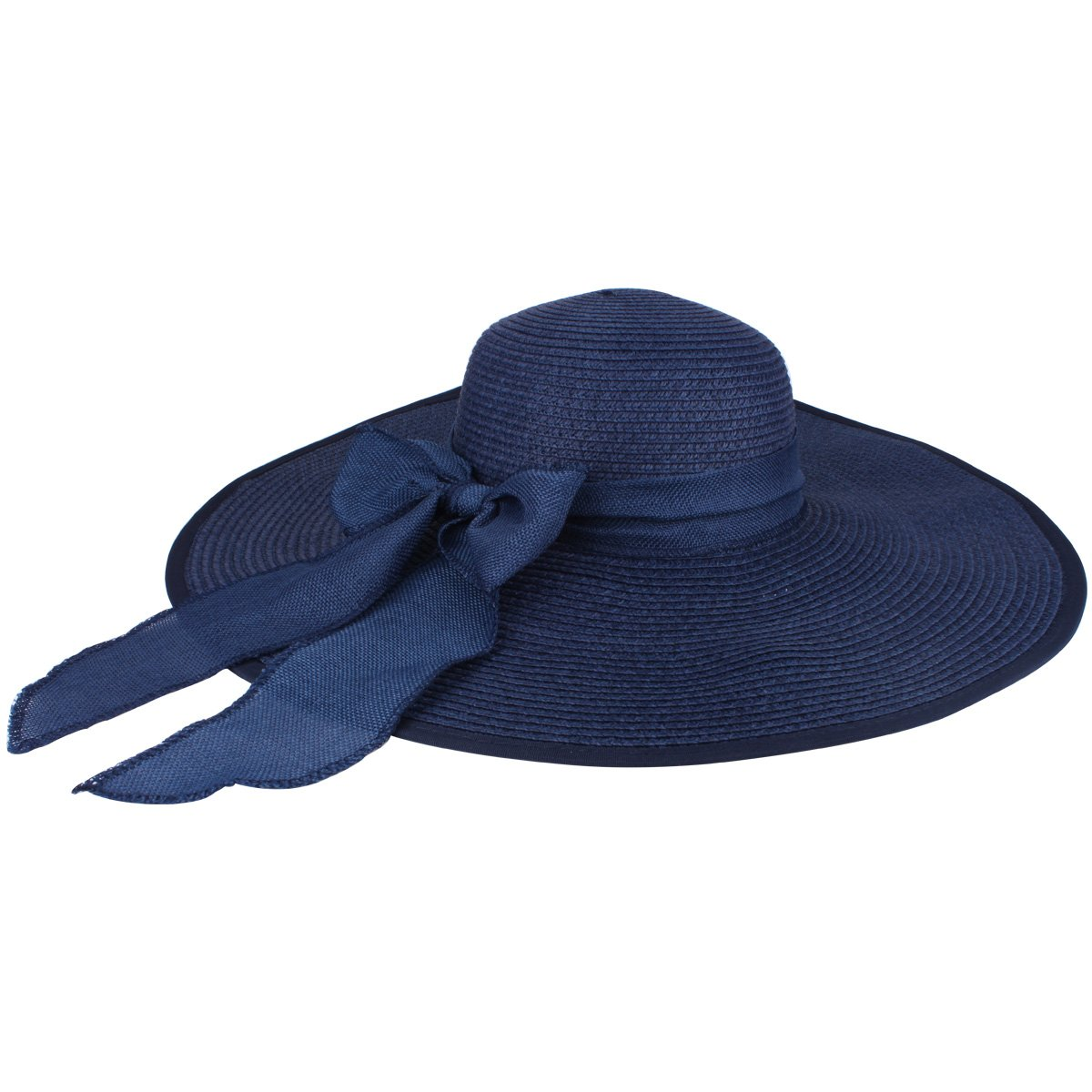 Bowknot with Wide Brim Paper Weaved Foldable Beach Sun Hats Straw Floppy Sun Hat