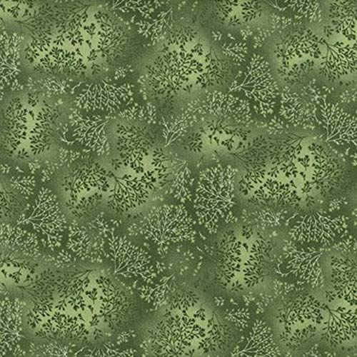 Grass Fusions, Green Leafy Branches, Great Accent Fabric, Fusions Collection, Robert Kaufman, EYJ557347, by The Yard