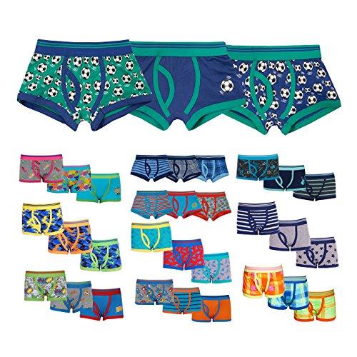 4Kidz Childrens Kids Boys Elasticated 3 Pack Multipack Cotton Boxer Trunks Underwear