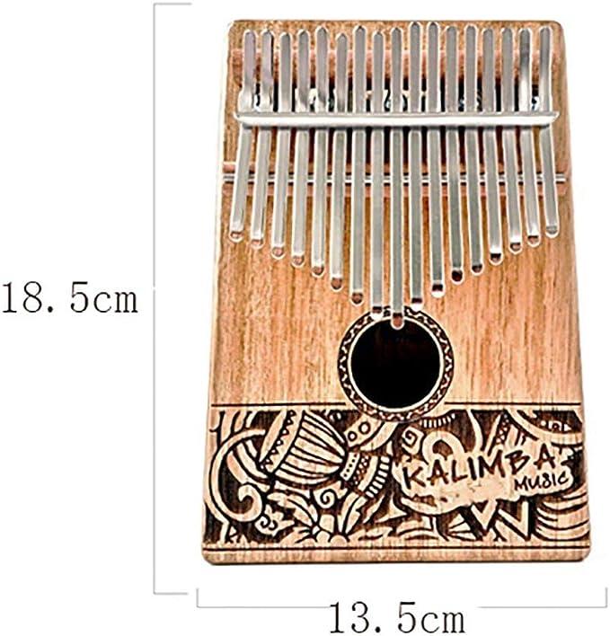 Ni/ños Principiantes Adultos DIYARTS 17 Teclas Acr/ílico Cristal Pulgar Piano Mini K-a-l-i-m-b-a Instrumento Musical Piano de Dedo Port/átil Decoraciones para el Hogar para Amantes de la M/úsica