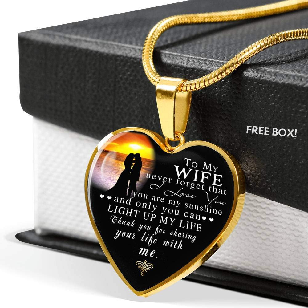 LaFina Inspirational to My Wife Necklace for Wifeluxury Pendant Necklace