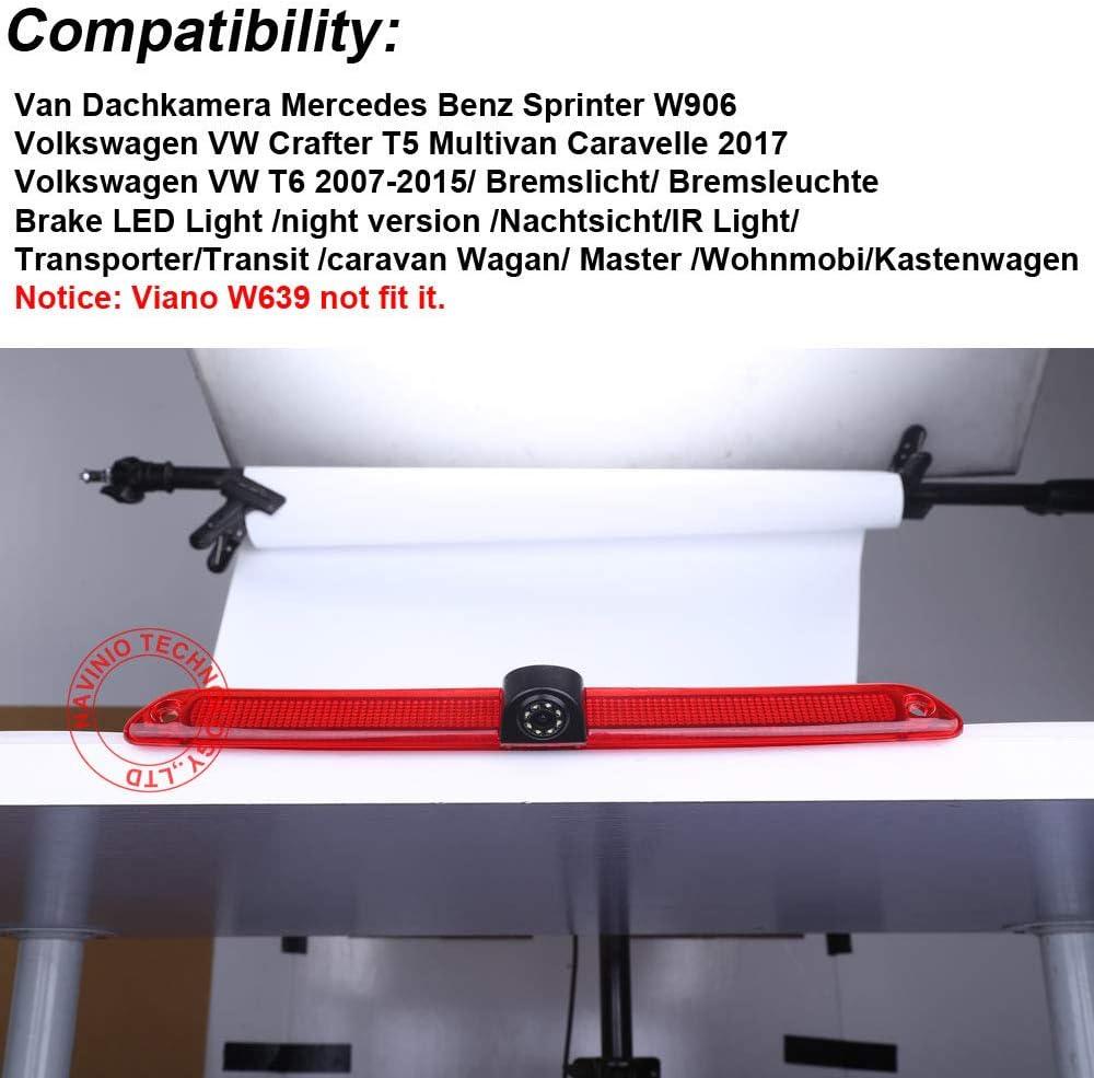 Monitor para Mercedes Benz SPRINTER VW Crafter Ducato T5 Transit 480 TFT LCD Navinio tercera luz de freno especial de la c/ámara de visi/ón trasera C/ámara de Marcha Atr/ás+4.3 Color Digital HD 800