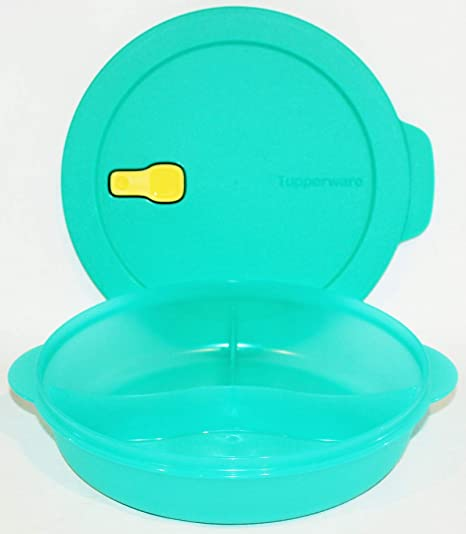 Amazon Com Tupperware Crystalwave Large Divided Microwave Dinner Dish Teal Green Other Products Divided Trays Platters