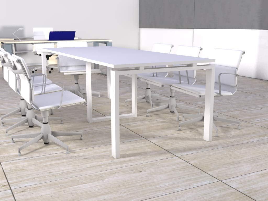 Mesa de reunión de marco abierto de 240cm x 100cm en color del ...