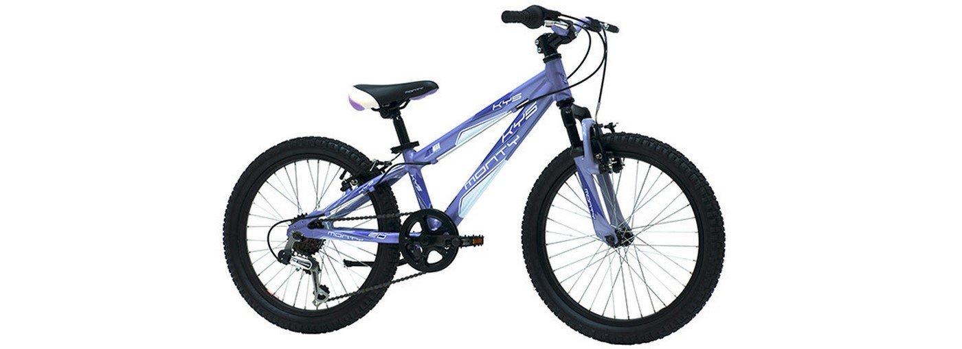 Monty KY5 - Bicicleta de montaña para niño, Color Lila, 10