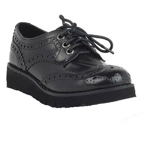 Zapato niña cordones cuña 53960 xti color negro (32) s79uJ