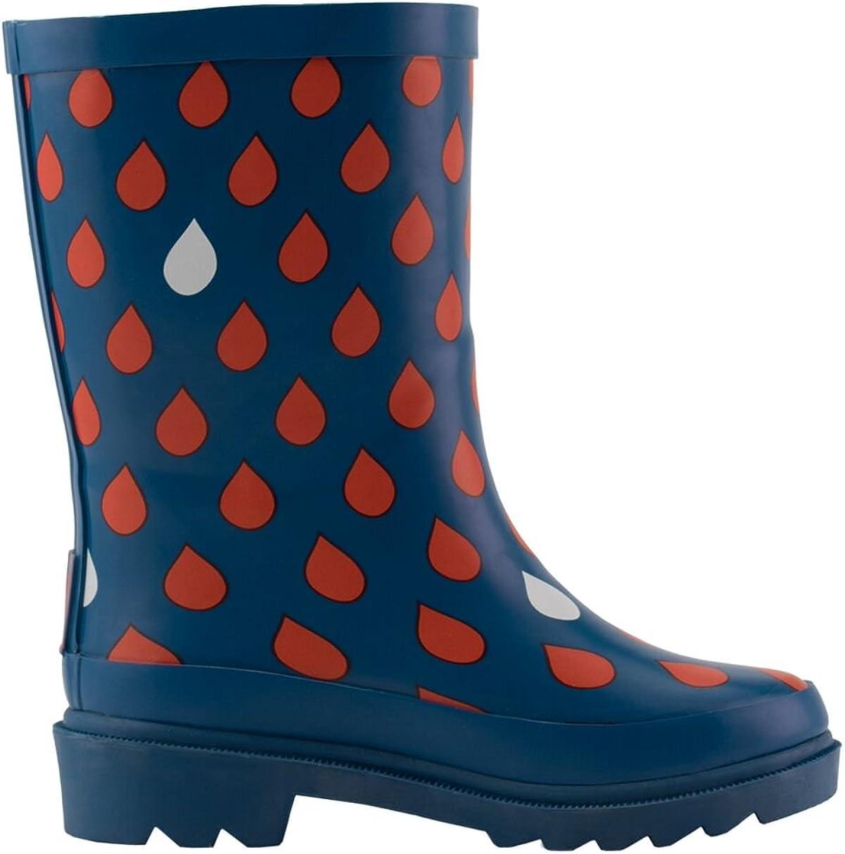 OAKI Kids Rubber Rain Boots with Buckle