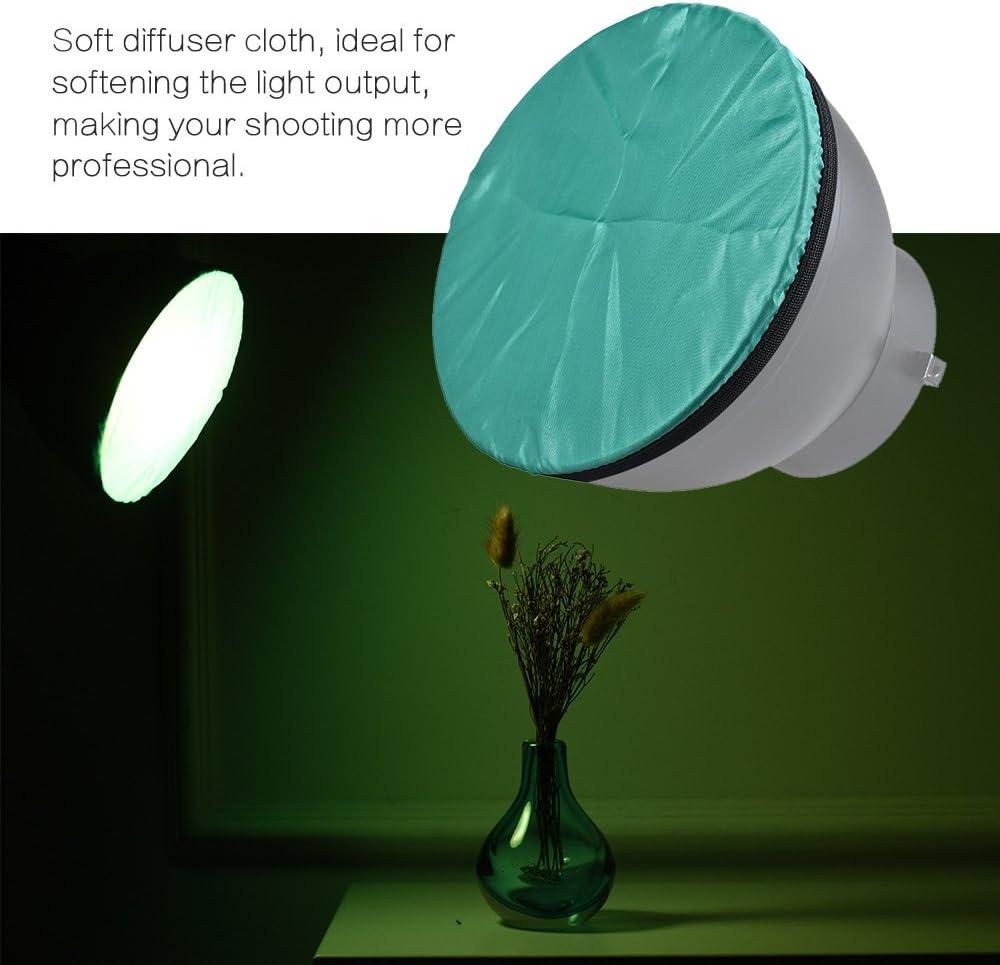 Festnight Tissu l/éger de diffuseur de lumi/ère de Photographie pour 7 180mm Standard Studio Strobe r/éflecteur Multiples Couleurs Options