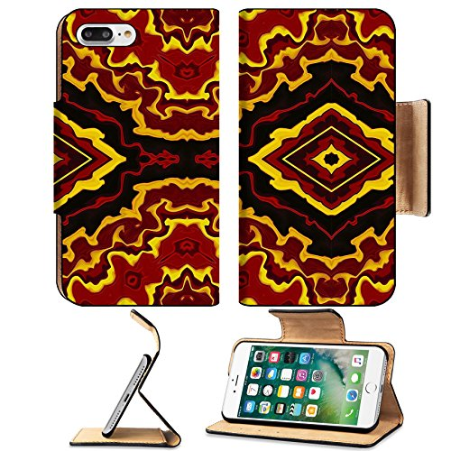 Widescreen Format Matte (MSD Premium Apple iPhone 7 Plus Flip Pu Leather Wallet Case IMAGE ID 32706937 Colorful abstract tribal style background in wide screen format)