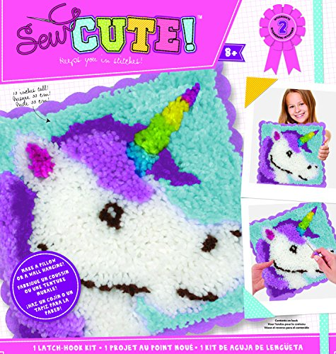 Colorbok Sew Cute Latch Hook Kit Unicorn by Colorbok
