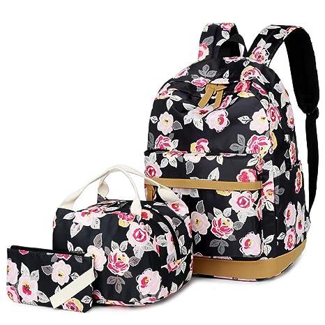 6f4f9cf7a Amazon.com: Meisohua Cute Floral Backpack Canvas Backpack School Bookbag:  Computers & Accessories