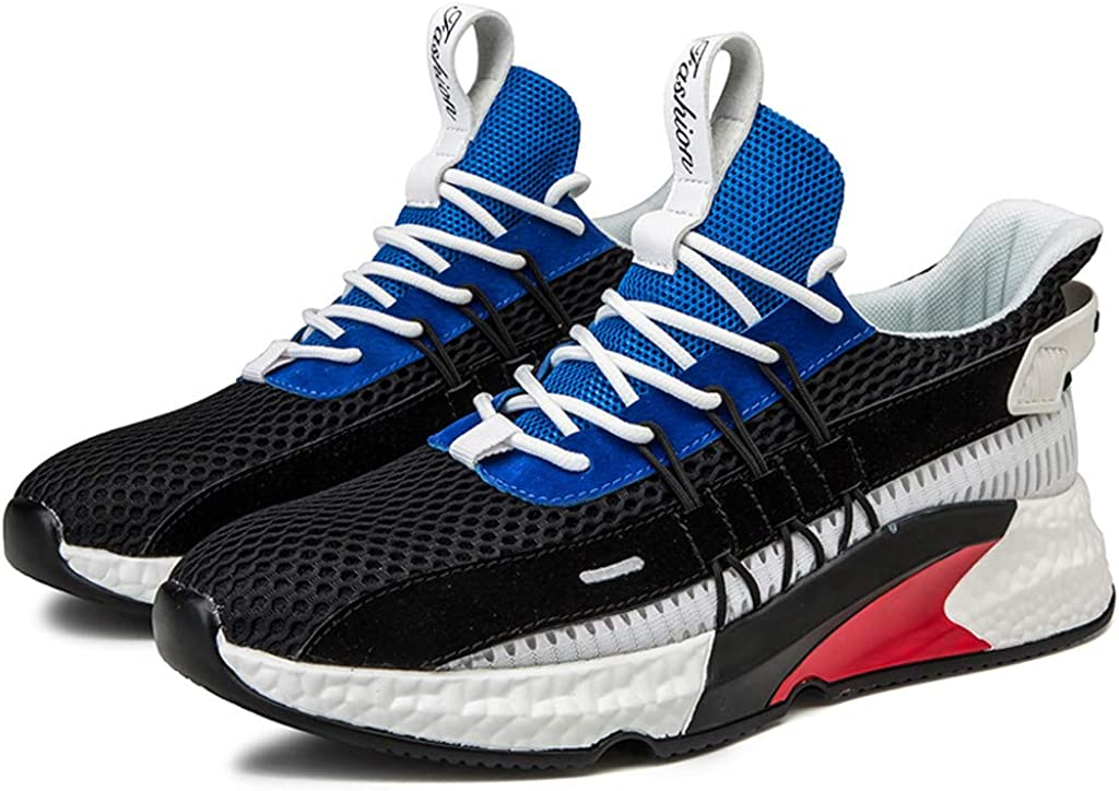 Athli Womens Fashion Outdoor Mesh Sports Shoes Platform Shoes Breathable Run Shoes Trim Retro Fashion Sneakers