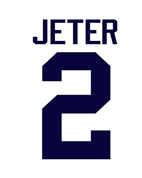 half off 29e19 0a6c7 Derek Jeter New York Yankees Jersey Number Kit, Authentic ...