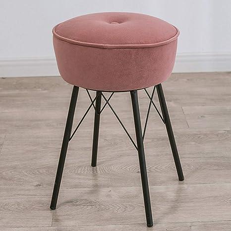 Tremendous Amazon Com Round Velvet Ottoman Desk Chair Mid Century Creativecarmelina Interior Chair Design Creativecarmelinacom