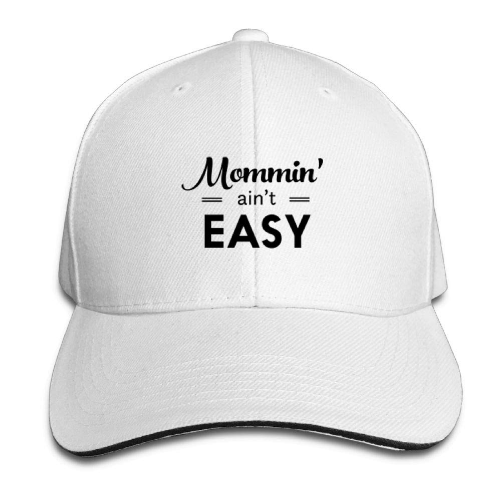 BUSEOTR Mommin Aint Easy Baseball Caps Adjustable Back Strap Flat Hat