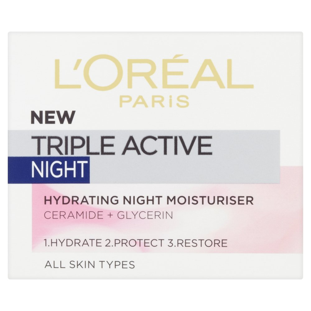 L'Oréal Triple Active, Crema Notte, 50 ml [Versione inglese] L' Oréal Triple Active L' Oreal UK 3600522083269