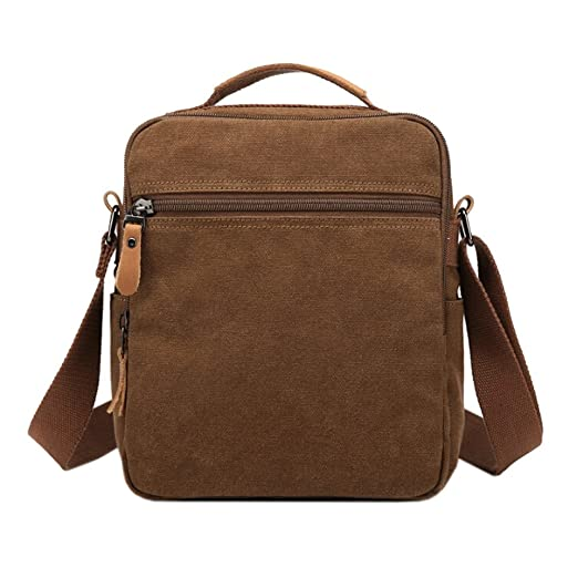 04b73924beae Amazon.com : Brave Pioneer Small Canvas Shoulder Bag Messenger Bag ...