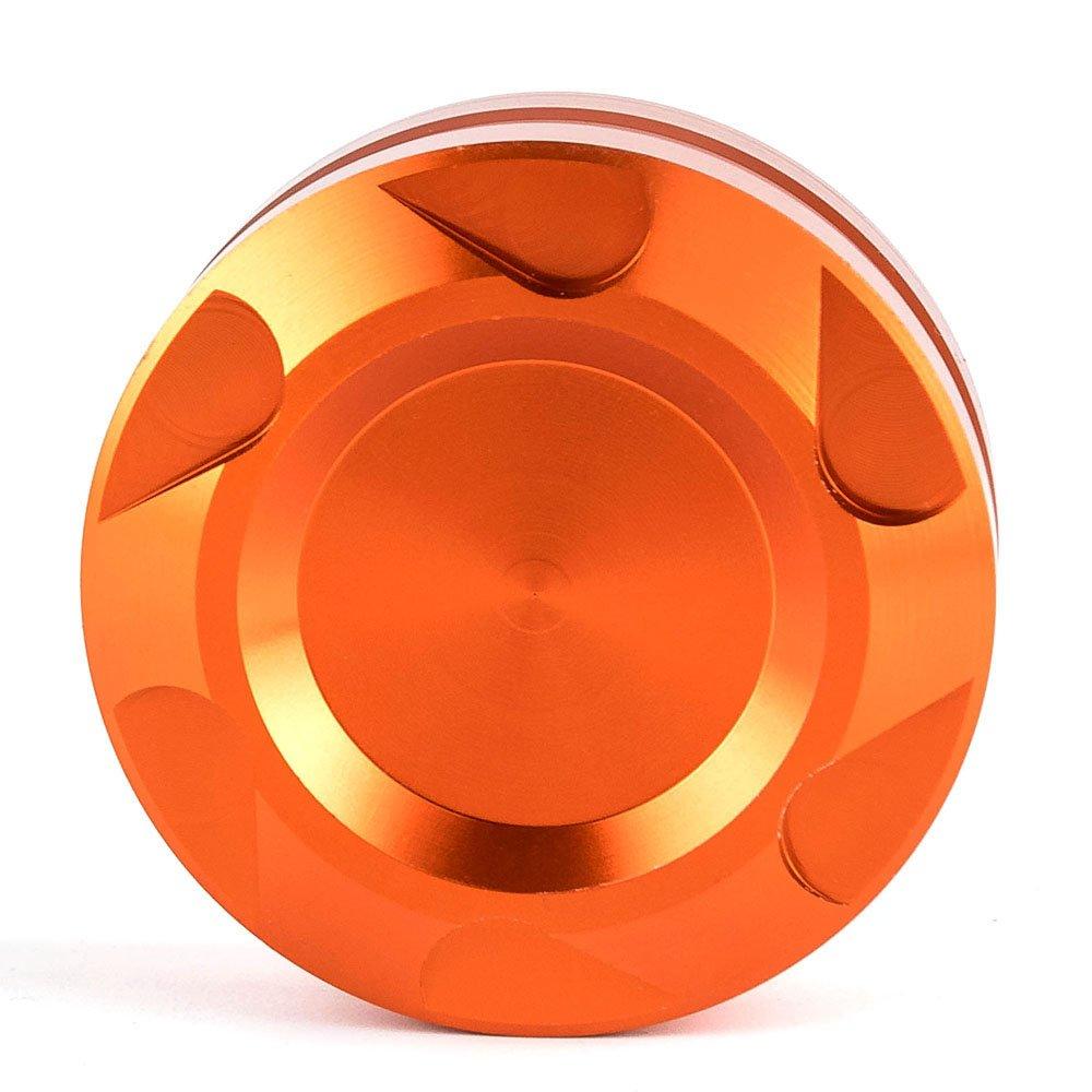 Motorcycle CNC Aluminum Orange Engine Rear Fluid Reservoir Orange Cap Cover For KTM DUKE 125/200/390 Nawenson