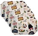bistro chef kitchen mat - Bistro Chef Vinyl Reversible Placemat Set - Set of 4