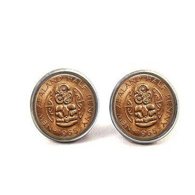 Imagen de una Vintage Nueva Zelanda Maori Half Penny Moneda 1965 ...