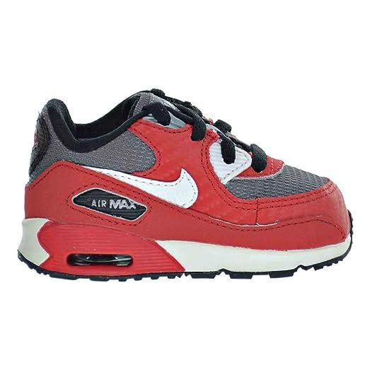 Nike Air Max 90 (TD) Toddler Shoes University Red/White/Metallic Cool