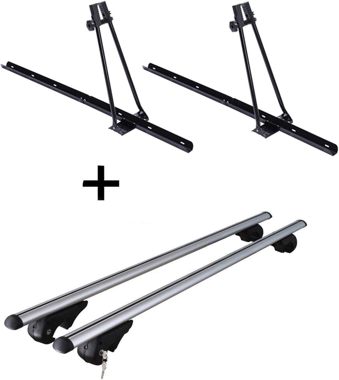 VDP 2X Fahrradtr/äger Orion Dachtr/äger Rio 120 kompatibel mit Skoda Fabia Kombi ab