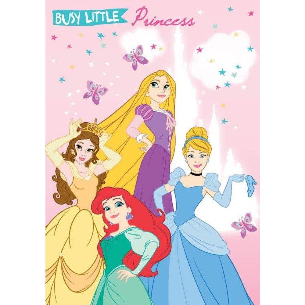 Disney PrincessGuest Towel, Hand Towel, Face Towel 40x 60cm, 100% Cotton, Pink AJM