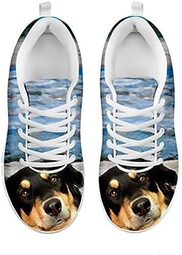 Shoetup Cute White Great Dane Dog Print Mens Casual Sneakers
