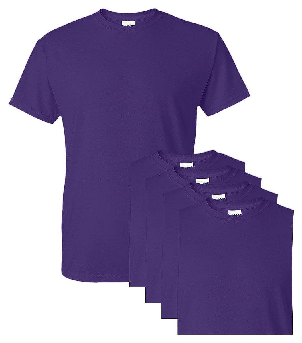 Gildan G8000 50/% Cotton 50/% Polyester DryBlend T-Shirt Purple Small 5 Pack