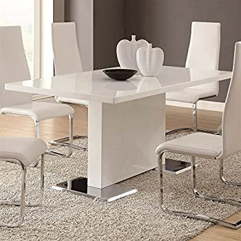 Amazon.com - Glossy White Contemporary Dining Table - Tables