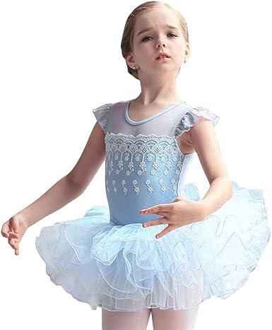 Girl Kids Tutu Ballet Leotard Dance Dress Ballerina Unitards Dancewear Costume