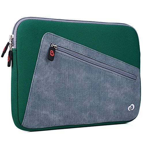 (EnvyDeal Kroo Vortex Sleeve W/Accessory Pocket fits Samsung Galaxy Tab S2 9.7, Tab A 9.7, Tab E 9.6, A & S Pen, Tab Pro 10.1, Tab 3, 4, Galaxy Note 10.1 Tablet, Chromebook 3 11.6 (Oasis Green))