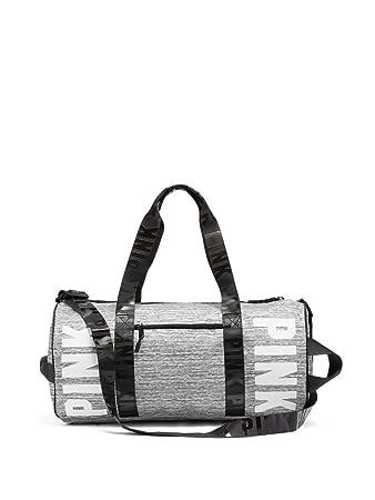 8705ca21fcda Victoria s Secret Pink Duffle Gym Bag Grey Marl White Logo