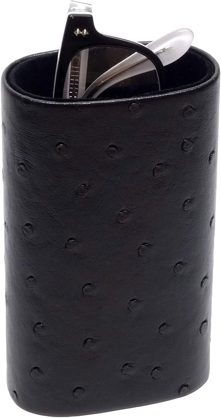 Desktop Eyeglass Holder w/Soft Lining in Black CA-500 by Calabria