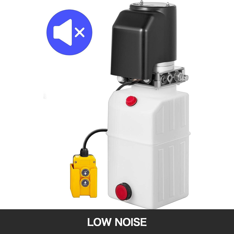 CUGIA Pompa Idraulica Cilindro Idraulico 7 Litri Con Linea Di Collegamento Cilindro Idraulico Per Sollevatore A Forbice Pompa Idraulica 12v a Singolo Agendo