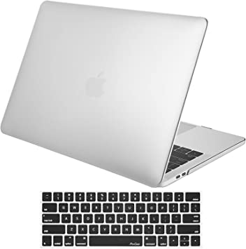 ProCase MacBook Pro 13 Case 2019 2018 2017 2016 Release A2159 A1989 A1706 A1708 Silver Hard Case Shell Cover and Keyboard Skin Cover for MacBook Pro 13 Inch with//Without Touch Bar