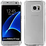 1Pack Galaxy S7 Edge Crystal Transparent Clear Case,Ibarbe Slim Thin Scratch Resistant TPU Rubber Plastic Heavy Duty Protection Shield Bumper Shock Absorption shell Cases For Samsung Galaxy S7 Edge