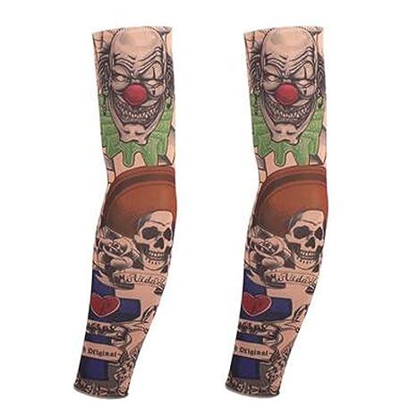 BLANCHO BEDDING 1-Pair Payaso Tatuaje Temporal Mangas del ...