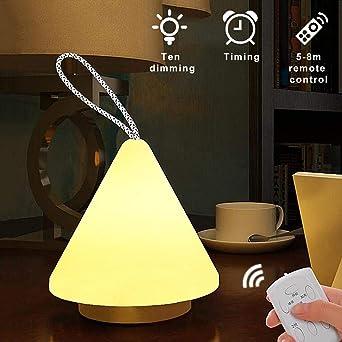 Lumière Tdmbm Occultante Télécommande Rechargeable Veilleuse Led wmvN8On0