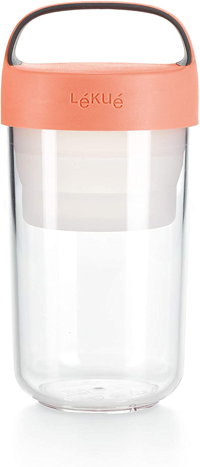 Lekue Plastic Food Storage Container, One Size, Coral