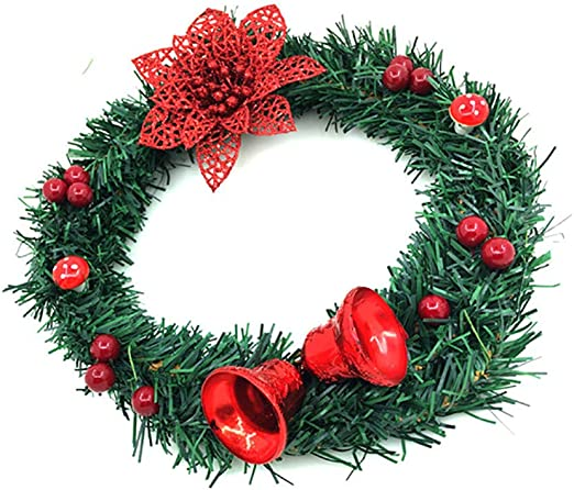 Artificial Hanging Wreath Colorful Stylish Christmas Decor For Doors And Windows