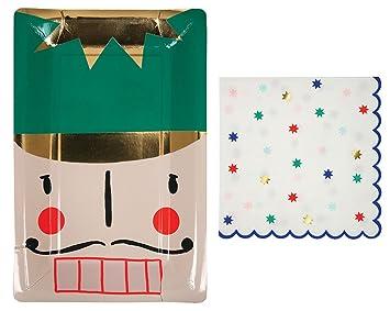 Nutcracker Christmas Party Plates and Napkins by Meri Meri - 8 plates and 16 napkins  sc 1 st  Amazon.com & Amazon.com: Nutcracker Christmas Party Plates and Napkins by Meri ...